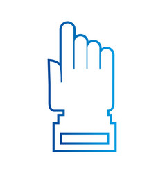 hand cursor technology point connection link vector image vector image