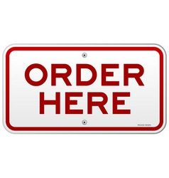 Order Here Notice vector image vector image