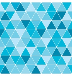 winter triangle pattern background vector image vector image