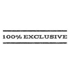 100 Percent Exclusive Watermark Stamp vector