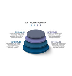 3d circles with 4 segments or layers modern vector
