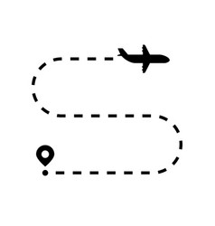 airplane flight like travel route vector image