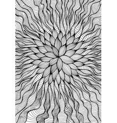 Alien fantastic flower coloring page isolated vector