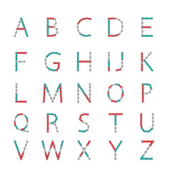 Alphabet from new popular anti-stress toy vector