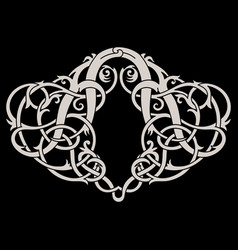 ancient celtic scandinavian design celtic vector image