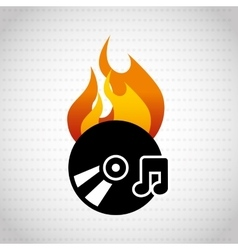 app burn cd design vector image