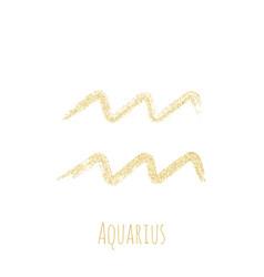 Aquarius zodiac sign horoscope symbol vector