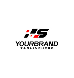 Auto speed letter s with race element logo vector