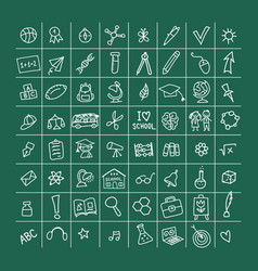 back to school icons for your design vector image