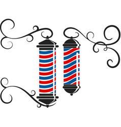 barbershop symbol design vector image