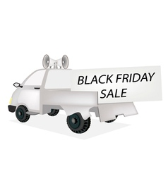 Black Friday Card on A Pickup Truck vector image