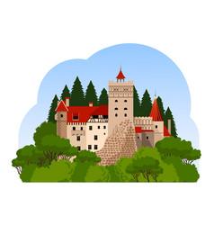 Bran castle travel to transylvania vector