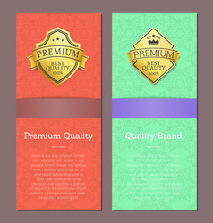brand premium quality exclusive high best choice vector image