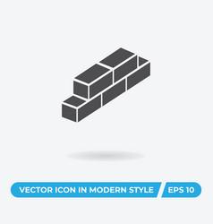 bricks icon simple car sign vector image