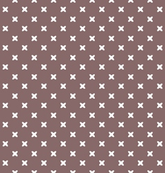 Brown background fabric with white crosses vector