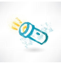Brush icon with flashlight vector image