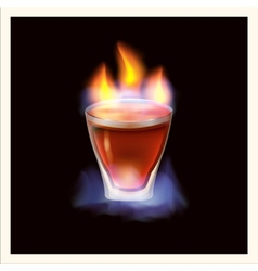 Burning drink vector