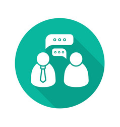 Business meeting flat design long shadow glyph vector