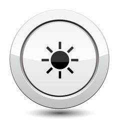 Button with sun vector image