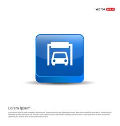 car parking icon - 3d blue button vector image