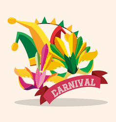 carnival mask design vector image