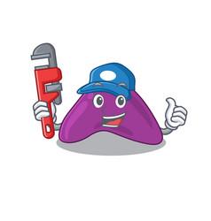 Cartoon character design adrenal as a plumber vector