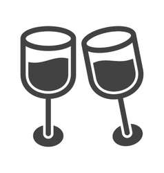 Champagne in Glass vector image