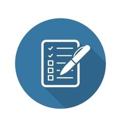 Check List Icon Business Concept Flat Design vector
