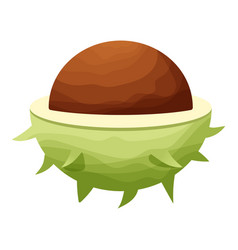 chestnut icon cartoon style vector image vector image