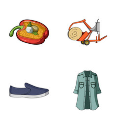 Clothing textiles business and other web icon in vector
