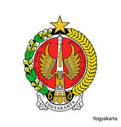 Coat arms yogyakarta is a indonesian region vector