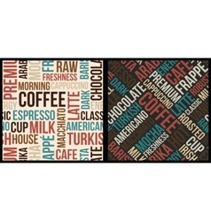 Coffee words pattern vector