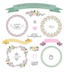 Colorful flat design style foral frames vector