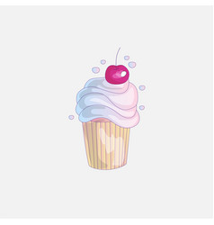cute cartoon little princess cupcake vector image
