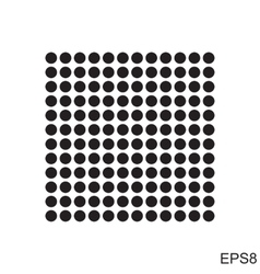 Dots square icon vector image
