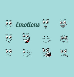 Emotions characters collection set vector
