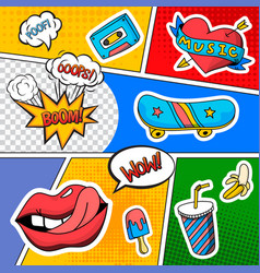 Emotions sound effects comic book vector