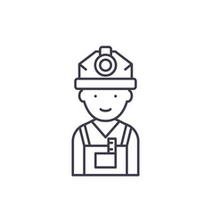engineer line icon concept engineer linear vector image