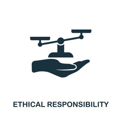 Ethical responsibility icon monochrome style vector