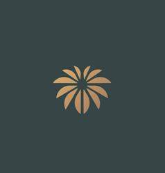 flower logo design palm logotype icon vector image