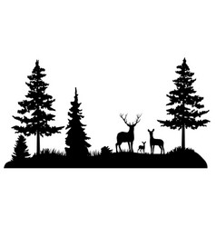 Forest deer family vector