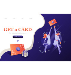 Get loyalty card banner vector