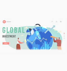 global investment opportunity landing page vector image