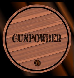 Gunpowder keg vector