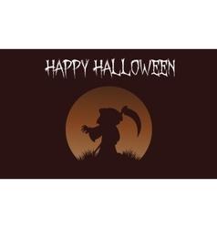 Happy Halloween warlock backgrounds vector image