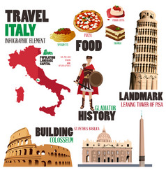 Infographic elements for traveling to italy vector