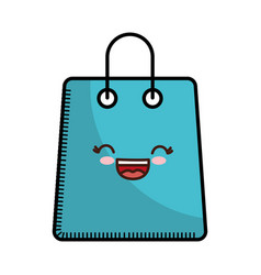 Kawaii shopping bag icon vector