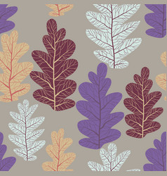 leaves trend pattern vector image
