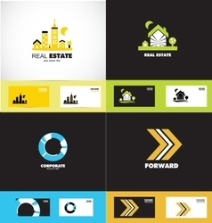Logo design elements icon set vector image