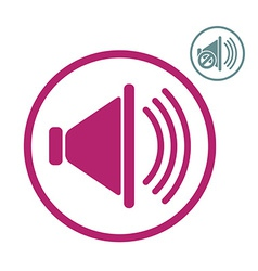 Loudspeaker icon with mute version vector